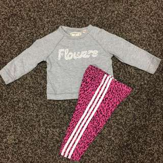 ADIDAS kids legging + MANGO Top