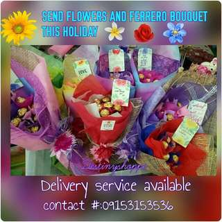 Ferrero & flower bouquet
