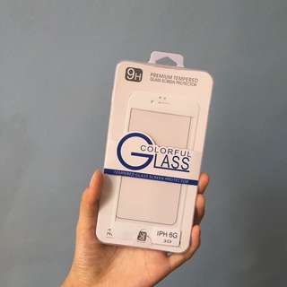 iPhone 6 White 3D Tempered Glass