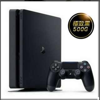 現貨全新PS4 Slim主機 CUH-2117AB01 系列 500G (極致黑)
