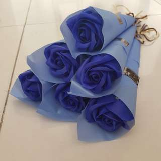 Valentine day rose flower (blue)