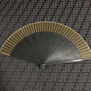 12 x Panasonic Wooden Hand Fan