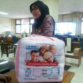 Chrysandra Healthy Pillow (4 Bantal 2 Guling)