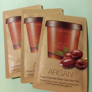 Nature Republic Argan Essential Deep Care Hair Pack sample