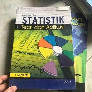 Statistik teori dan aplikasi edisi ketujuh jilid 1 J.supranto ORI