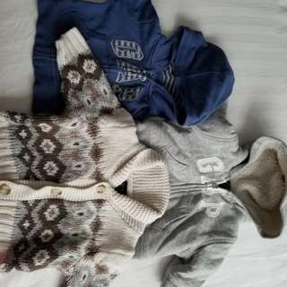 GAP 0-3mths sweaters. Practically new condition. Retails for $39.95 each. Size 0-3mths. Pick up Beaches or Yorkville.