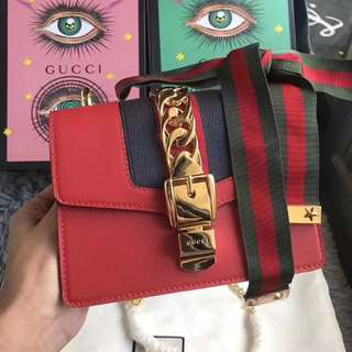 Gucci Sylvia genuine leather
