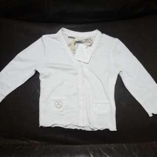 Chauteu de sable - White super soft cardigan BNWT