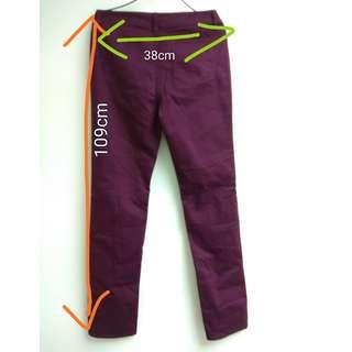 COOL CODE SARA Zipper Pants  Waist Size :  23inches  Long :  109cm $20