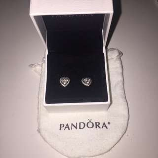 New Pandora Heart Earrings