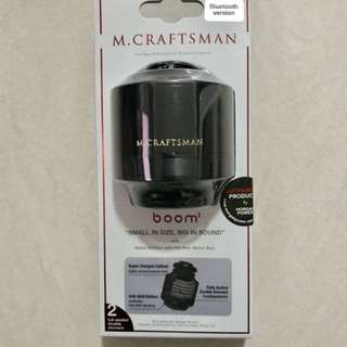 M. CRAFTSMAN BOOM BLUETOOTH SPEAKER BLACK