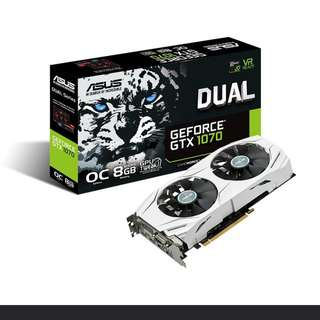 ASUS Dual series GeForce® GTX 1070 8GB (DUAL-GTX1070-O8G)