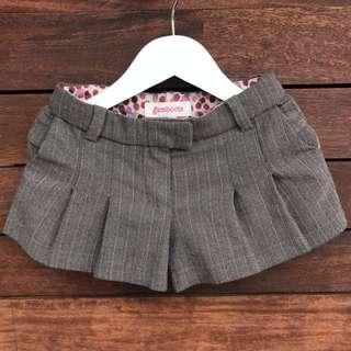 GUMBOOTS Girls skorts Shorts Size 2-3