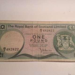 Scotland pound 1975