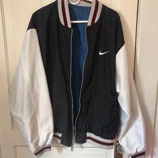 vintage nike reversible bomber track jacket