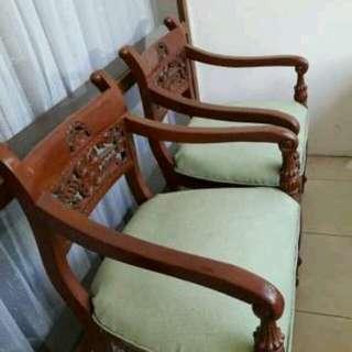 Jual 1 Set kursi tanpa Meja, 1 kursi panj dan 3 pc kursi kecil nya