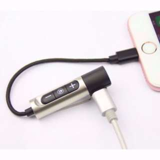 Lightning 2 in 1 dual port to 3.5mm audio jack and lighting connector iphone 7 iphone 8 iphone x