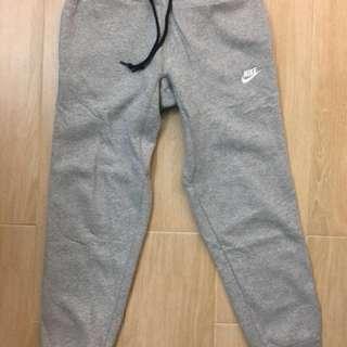 Nike 灰色 厚棉褲