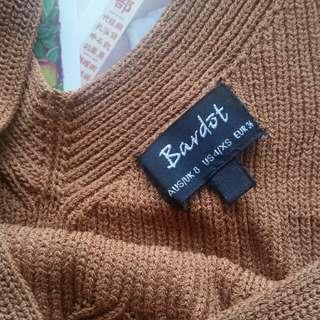 Bardot Knit Crop/bralet (worn once!)