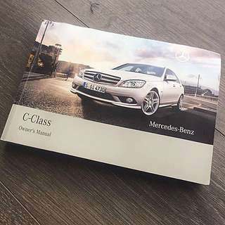 Mercedes-Benz C-Class (W204) Owner's Manual Handbook