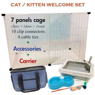 Kitten Cage Set with Accessories / 2 tier