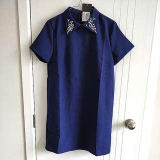 *Brand New* Embellished collar shift dress
