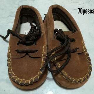 Baby boy brown shoes loafers / topsider