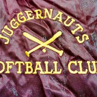 Vintage maroon stadium jacket made in USA(m)