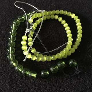 Olive green quality beads