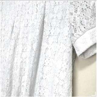 $2 White Lace Blouse / Shirt