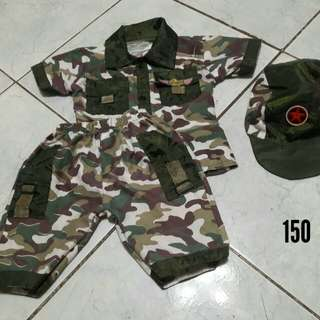 Soldier costume for baby camouflage