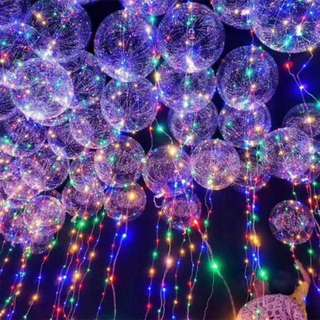 Transparent Luminous Balloons with Fairy Lights