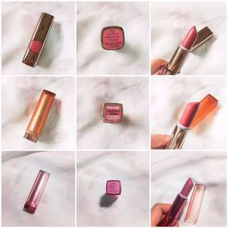 Take All 3 L'Oreal and Maybelline Lipstick Bundle