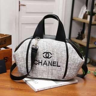 Ch*nel Canvas Leather Tote Bag #9858 (tb