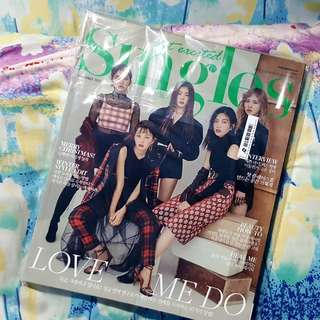 Singles magazine with Red Velvet cover