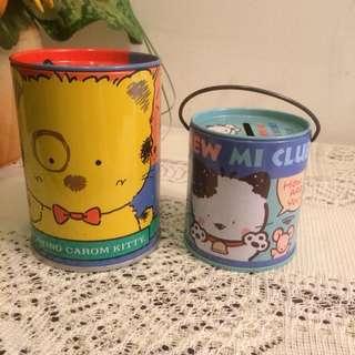 Set of 2 cat tin coin boxes