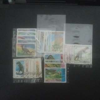 Dinosour stamps