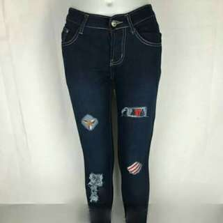 Tattered jeans stretchable