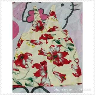 Floral Cotton Jumpsuit Skirt (1-3 yrs old)