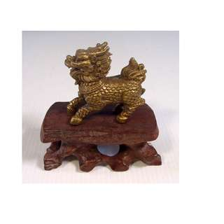 Vintage bronze Chinese foo dog circa 1960s