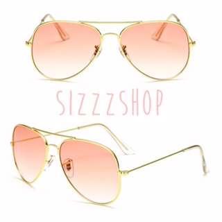 Kacamata aviator sunglasses peach