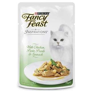 Fancy Feast Inspiration Pouches - $23.00 Per ctn of 24 pouches