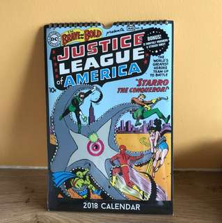 Super-hero's 2018 calendar - (Brand new!)
