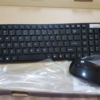 Wireless Keyboard with Mouse