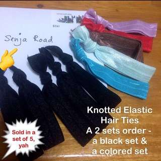 Knotted Elastic Hair Ties [hair accessories hairties hair-ties hair band ponytails gift handmade uncle.anthony uncle anthony uac] FOR MORE PICTURES & DETAILS, GO HERE: 👉 http://carousell.com/p/134473910