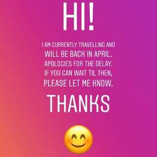 Back in April