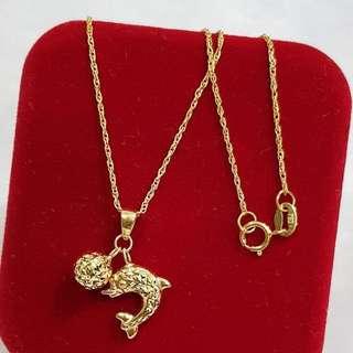 18K Saudi Gold Necklacs