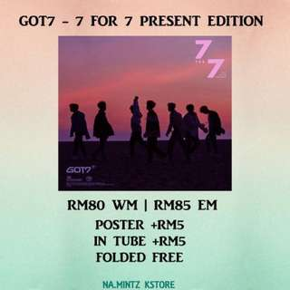 PRE-ORDER GOT7 - 7 FOR 7 PRESENT EDITION