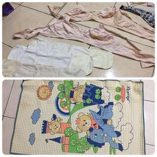 nursing bra, new baby mat, navel protector belly binder(all at rm10)
