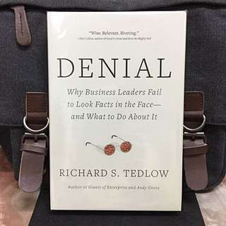 # Highly Recommended《Bran-New + Hardcover Edition + The Reason Smart Leaders Unwillingly Facing The Harsh Facts & Act Dumb》Richard S. Tedlow - DENIAL : Why Business Leaders Fail to Look Facts in the Face-And What to Do about It